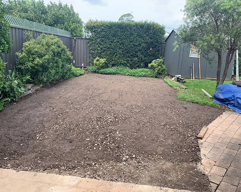 Soil Filled out Complete By jam pool removals