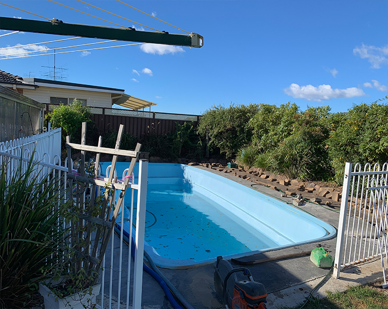 Water Pumping to remove pool