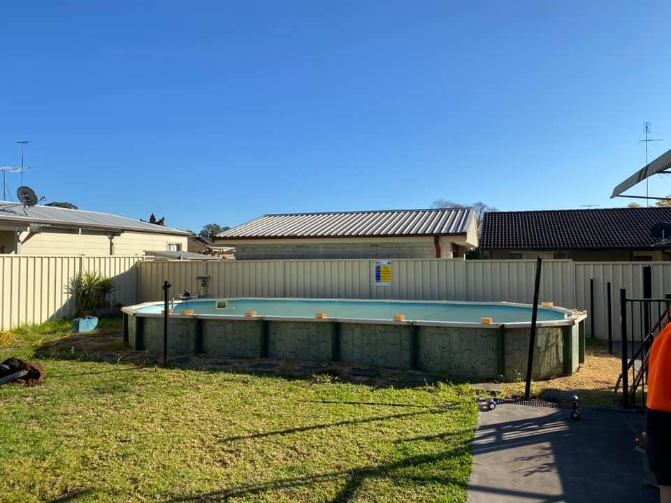 Sydney Above ground pool removal