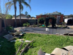 Inground fiberglass pool removal in Sydney Area by Jam pool removals teams