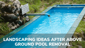 landscaping ideas after above ground pool removal